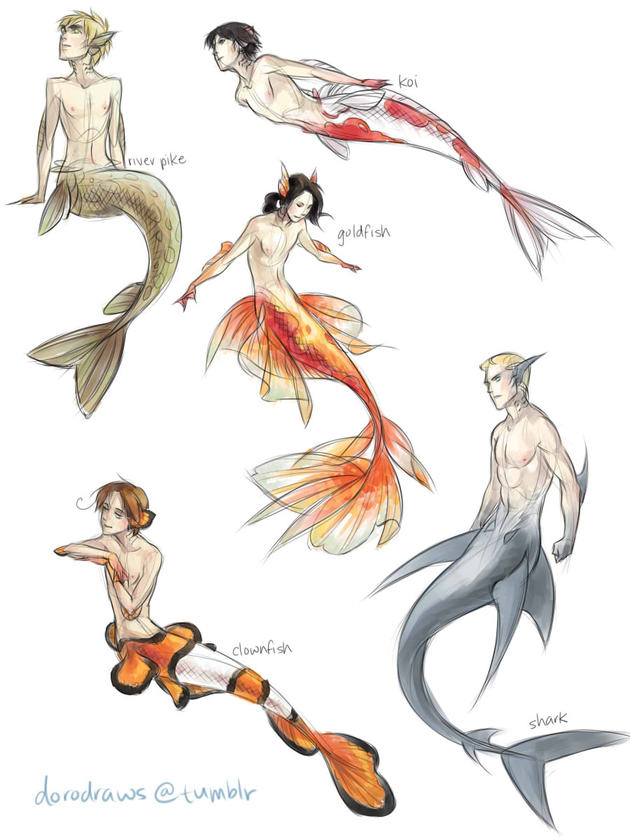 Drawn shark mermaid And Mermaids and Such Collide