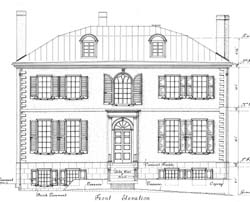 Drawn mansion AIA (measured Front and Philadelphia