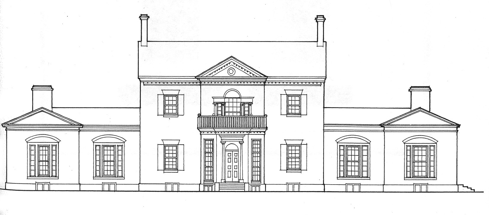 Drawn mansion Museum of a Virginia House