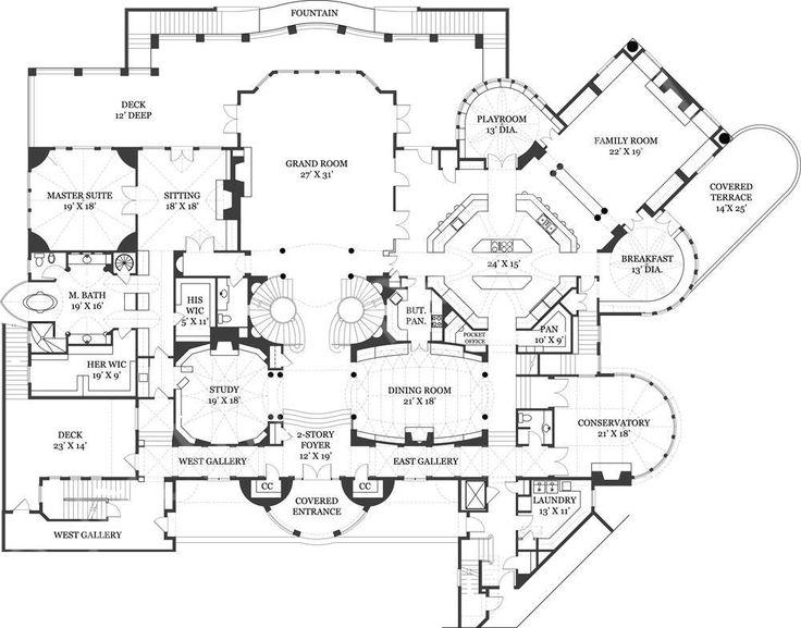 Drawn mansion House 147 Plans Plan Pinterest