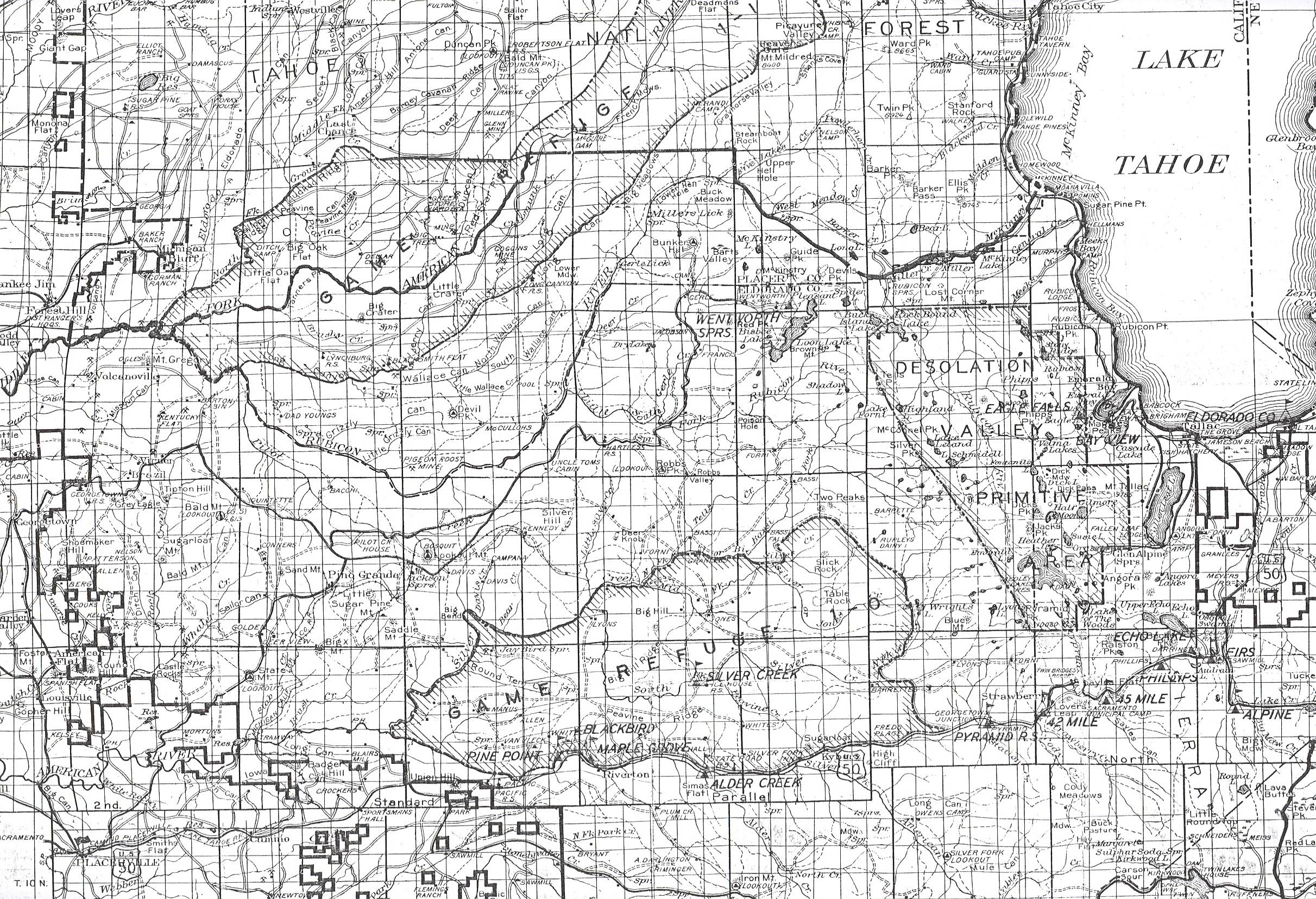 Drawn map Forest father Eldorado by the