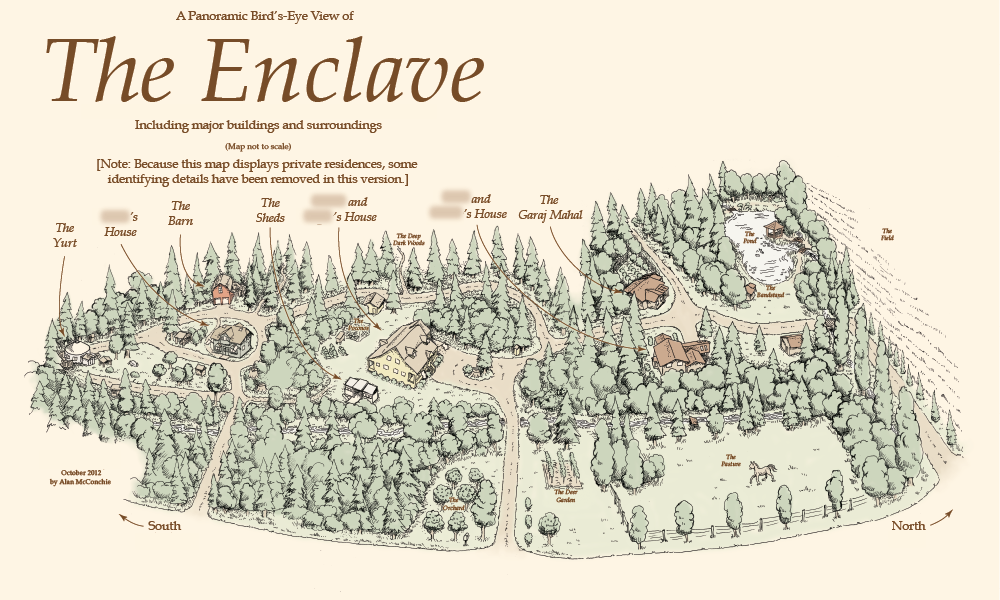 Drawn map Enclave Hand map enclave map: