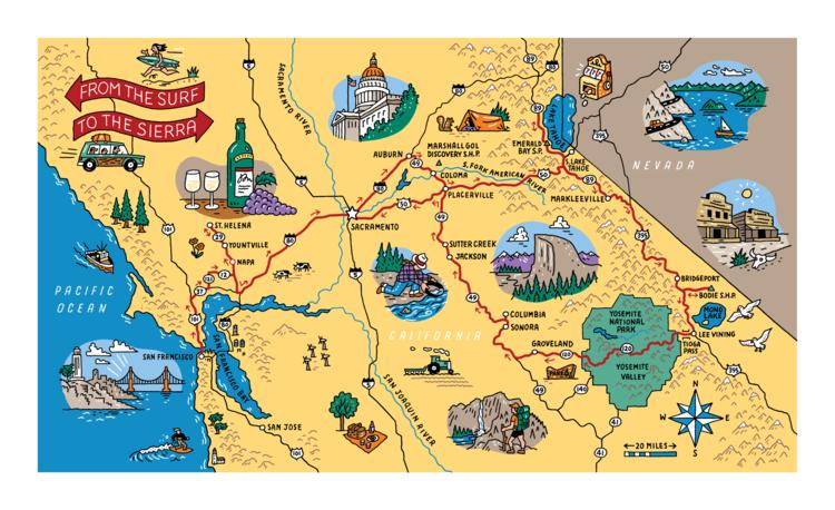 Drawn road road map Trip Magazine Carroll Maps Tim