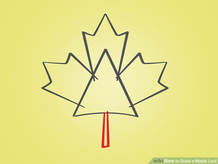 Drawn maple leaf Titled 12 04 Pictures) Leaf:
