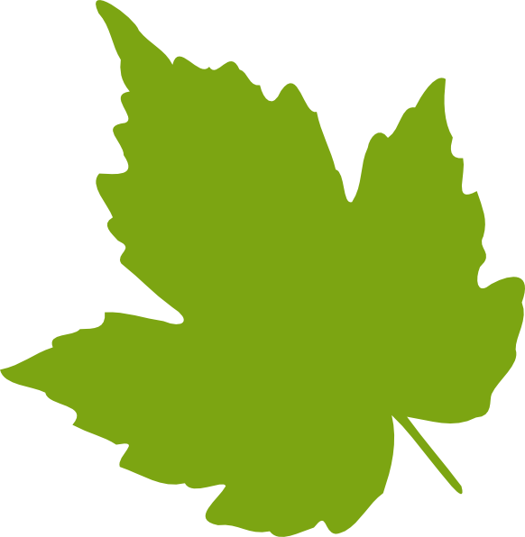 Leaves clipart single Green as: this Leaf Clker