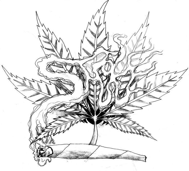 Drawn cannabis badass #5