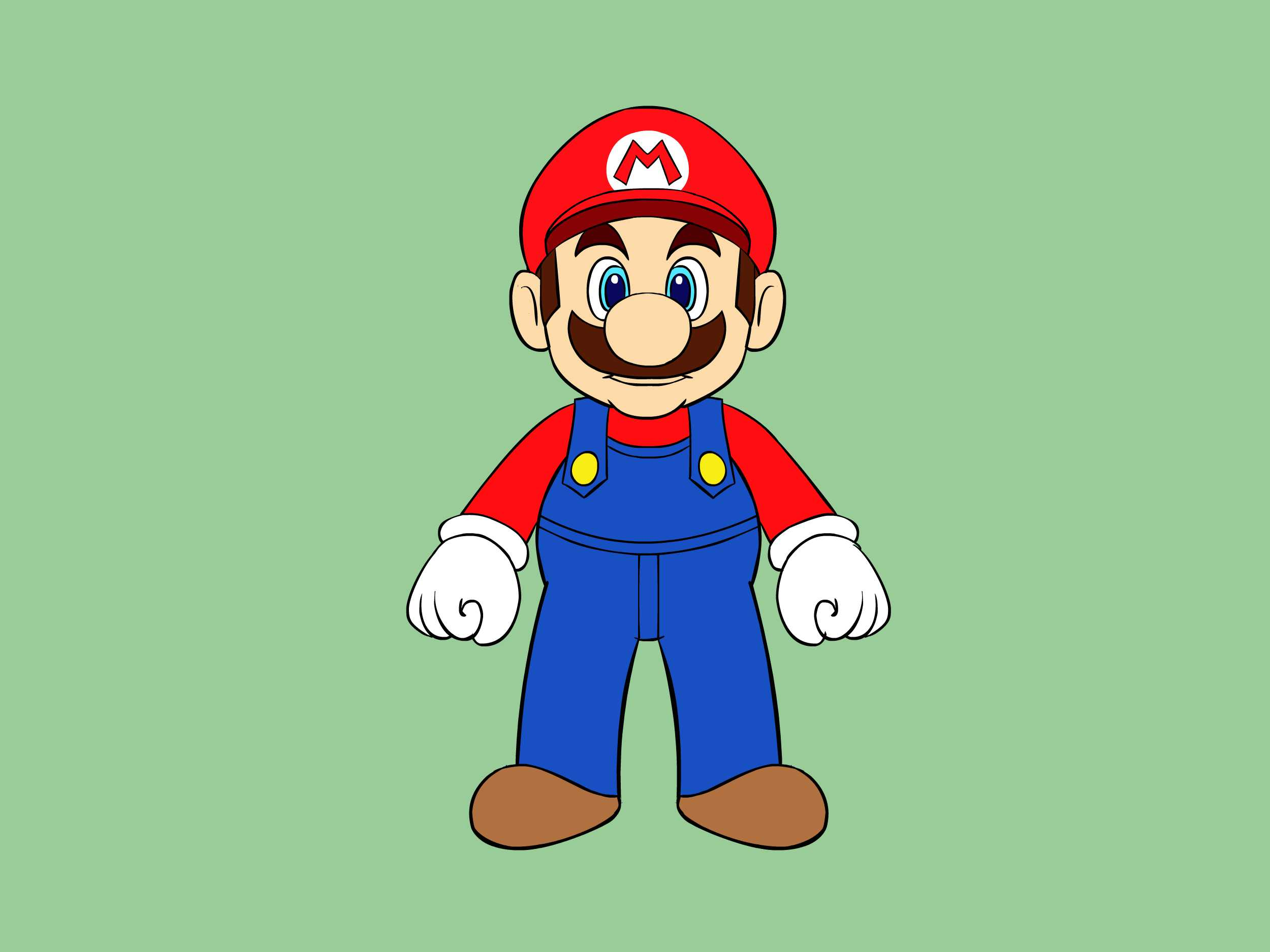 Mario clipart easy Ways Characters to Draw
