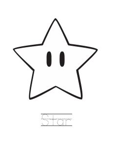 Drawn mario star #11