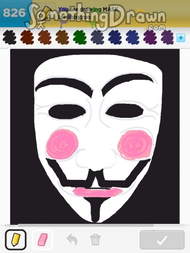 Drawn mask V by drawn Something SomethingDrawn