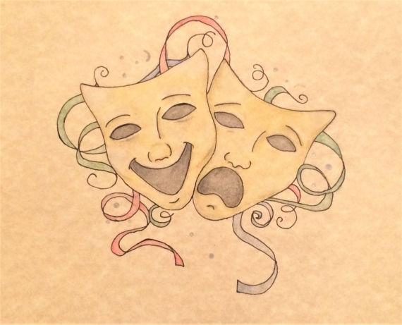 Drawn mask Hand Drama Drawn Hand Drawn