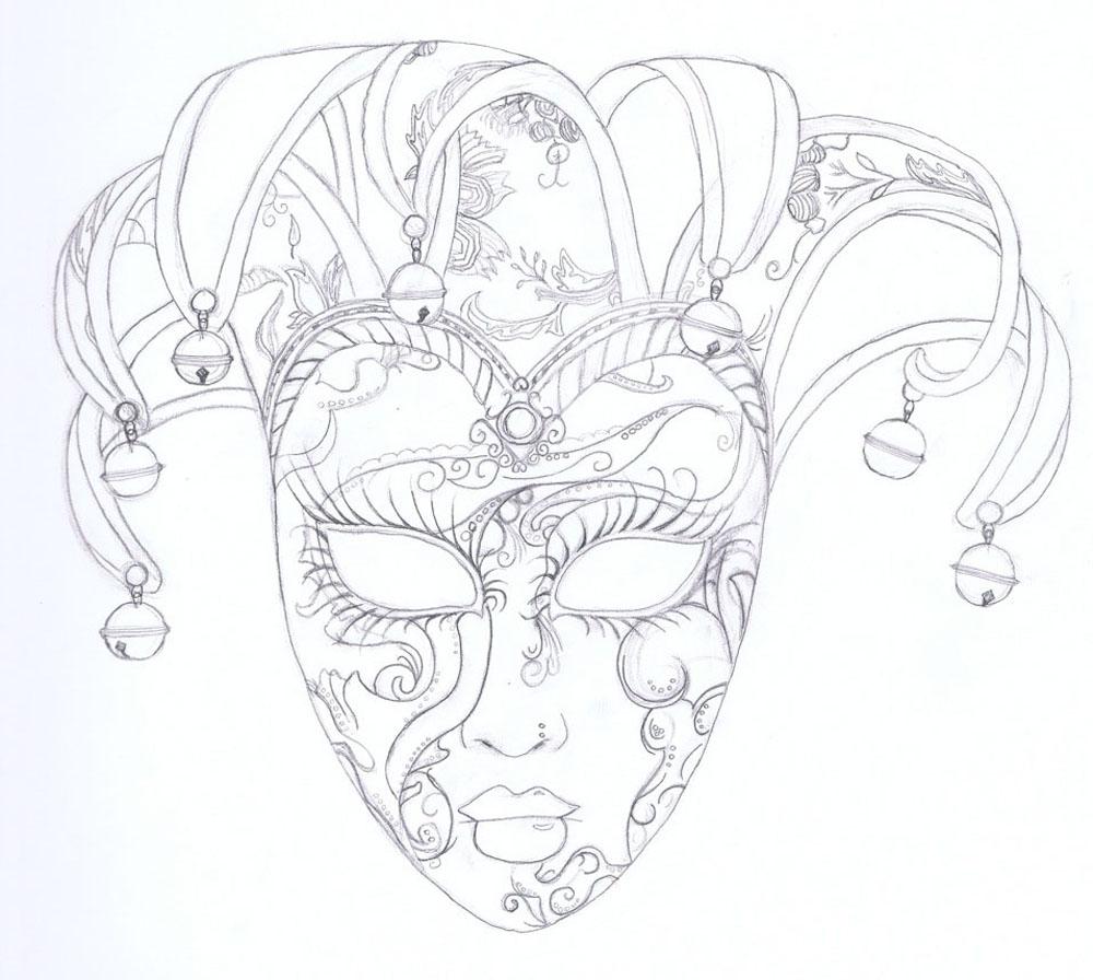 Drawn masks Venetian Mask venitian Welch mask