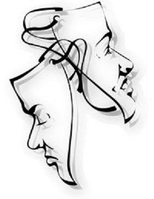 Drawn masks acting Tattoo for masks Image tattoo