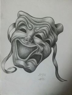 Drawn masks acting Tattoo masks a Combines treble