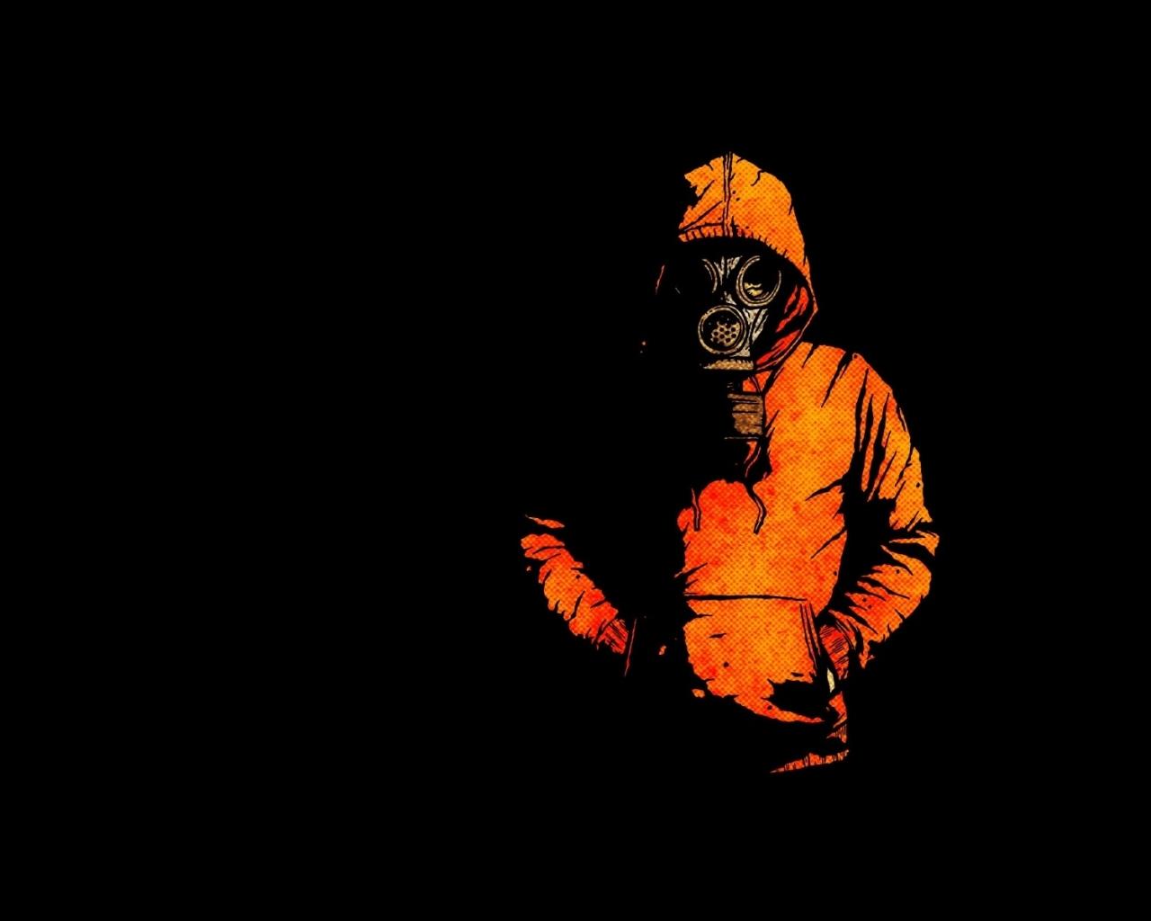 Drawn masks background Gas 1900x1200 minimalistic hoodie drawn