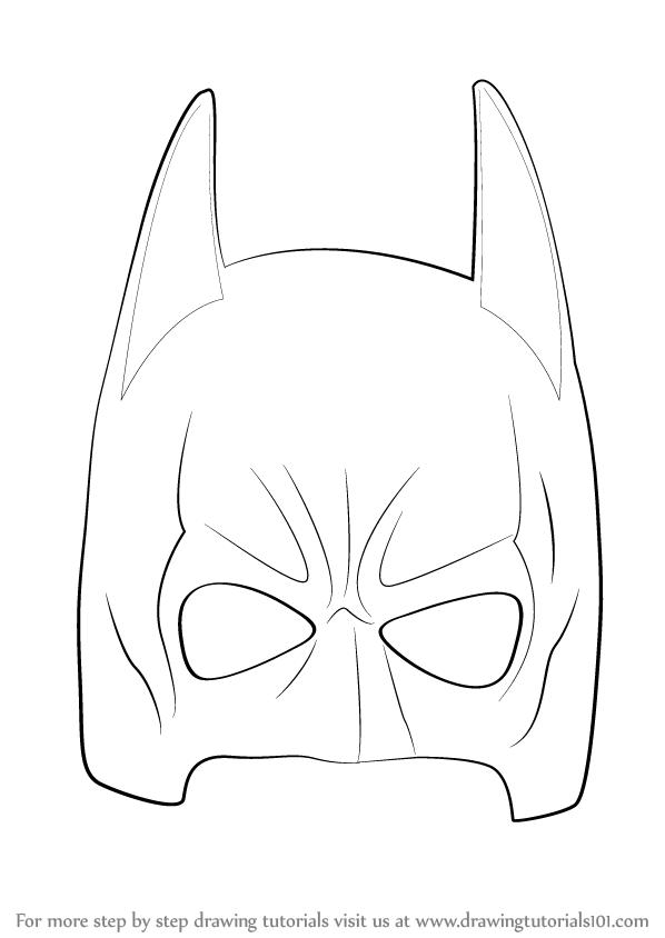 Drawn masks bat Draw Mask (Batman) Step Learn