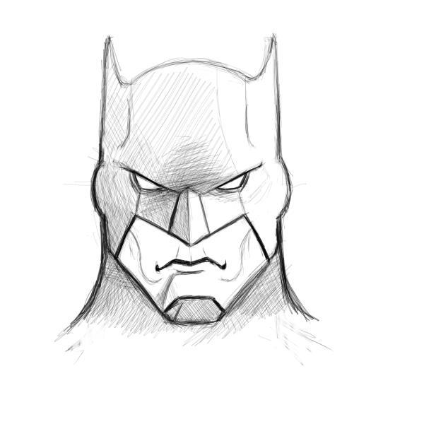 Drawn masks bat And Factory finishing How Batman