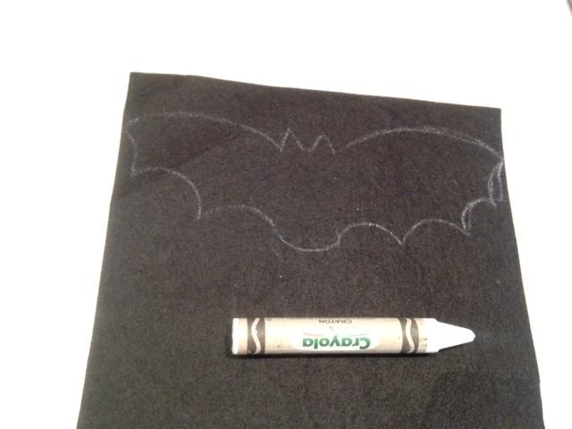 Drawn masks bat Mask Kid felt Easy how
