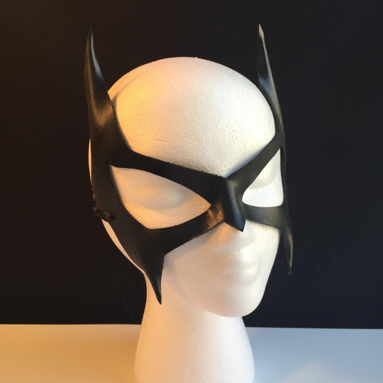 Drawn masks batwoman Etsy Batgirl Cosplay mask Black
