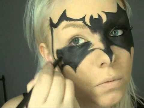 Drawn masks batwoman Makeup Batwomen  mask 0001