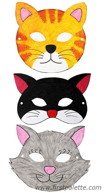 Drawn masks cat About masks ideas free printable