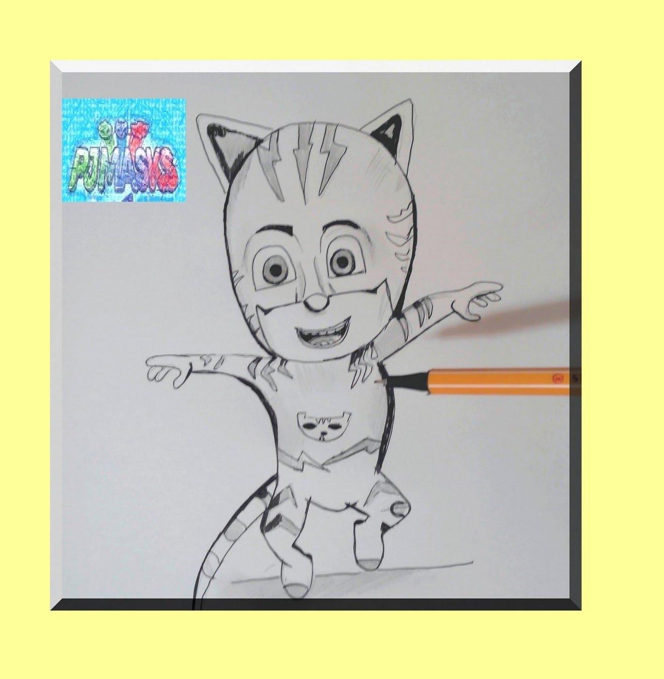 Drawn masks cat Catboy Pyjamasques to animès pj