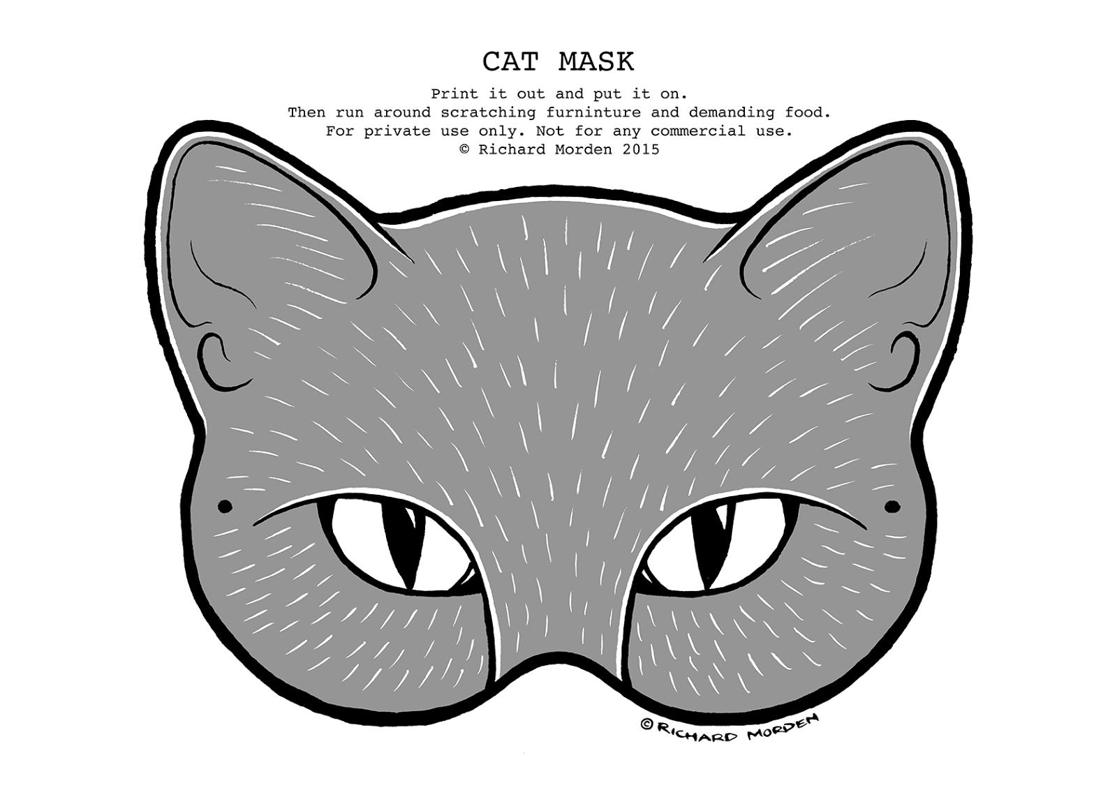 Drawn masks cat Cat Morden illustration mask paper