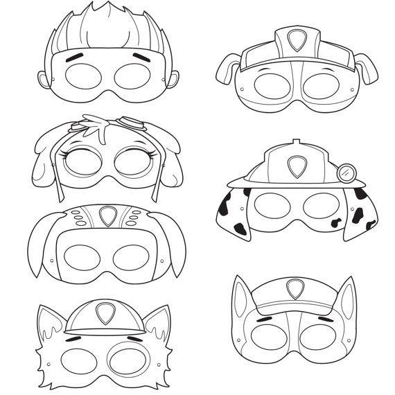 Drawn masks color Paws printable Masks masks masks