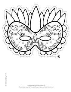 Drawn masks color Festive Printable Mask Mask Color