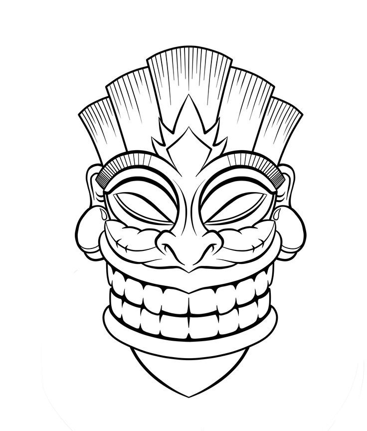 Drawn masks color Find Coloring and Printable on