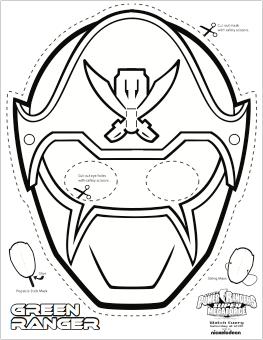 Drawn masks color SUPER Masks Rangers SUPER Coloring
