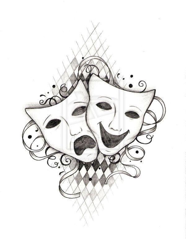 Drawn masks drama Tragedy and had of Pinterest