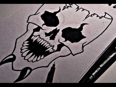 Drawn masks drawing To  Skull Draw How