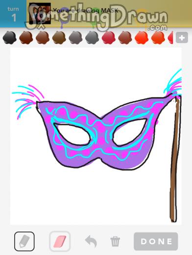 Drawn masks drawing Something com MASK Sparkles MASK