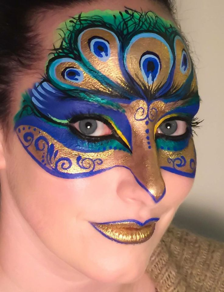 Carneval clipart face painting Peacock Mask ideas Pinterest 25+
