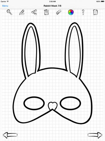 Drawn masks face drawing Draw the Screenshot on :