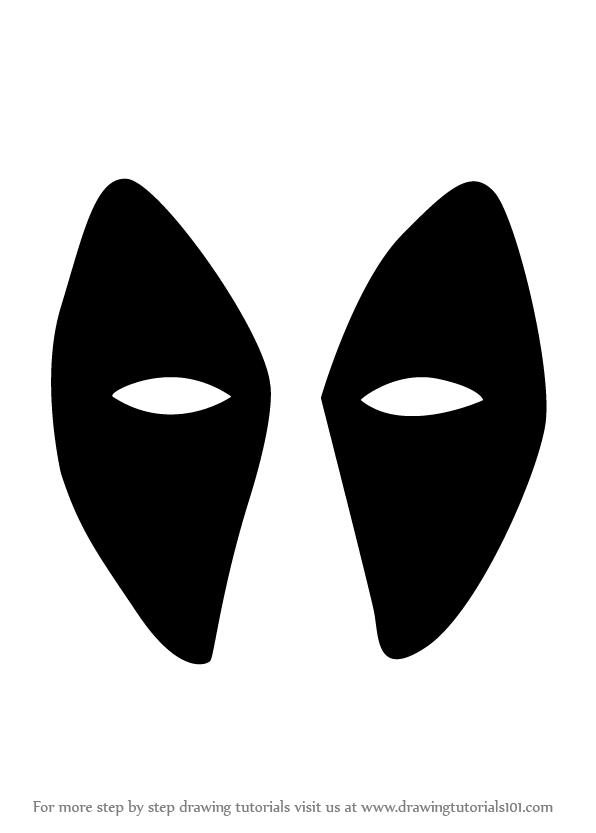 Drawn masks face drawing Deadpool Step : Step Mask