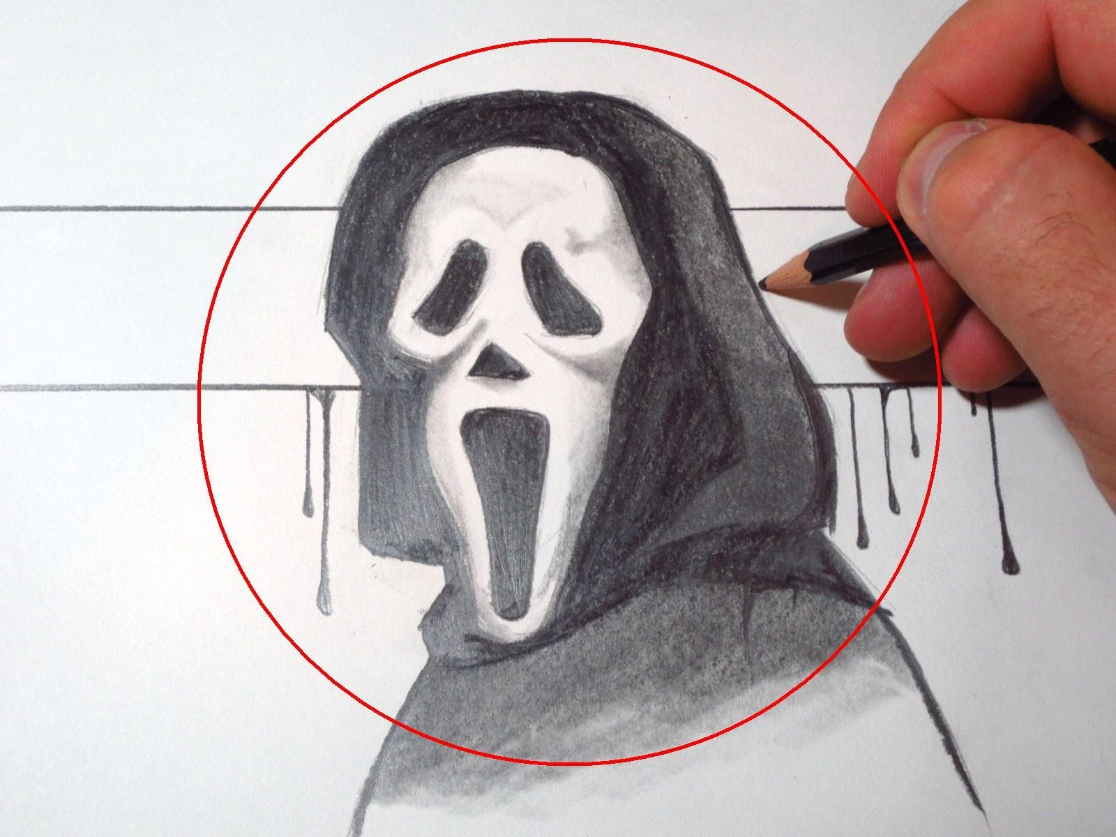 Drawn masks face drawing Mask Scream To YouTube Draw