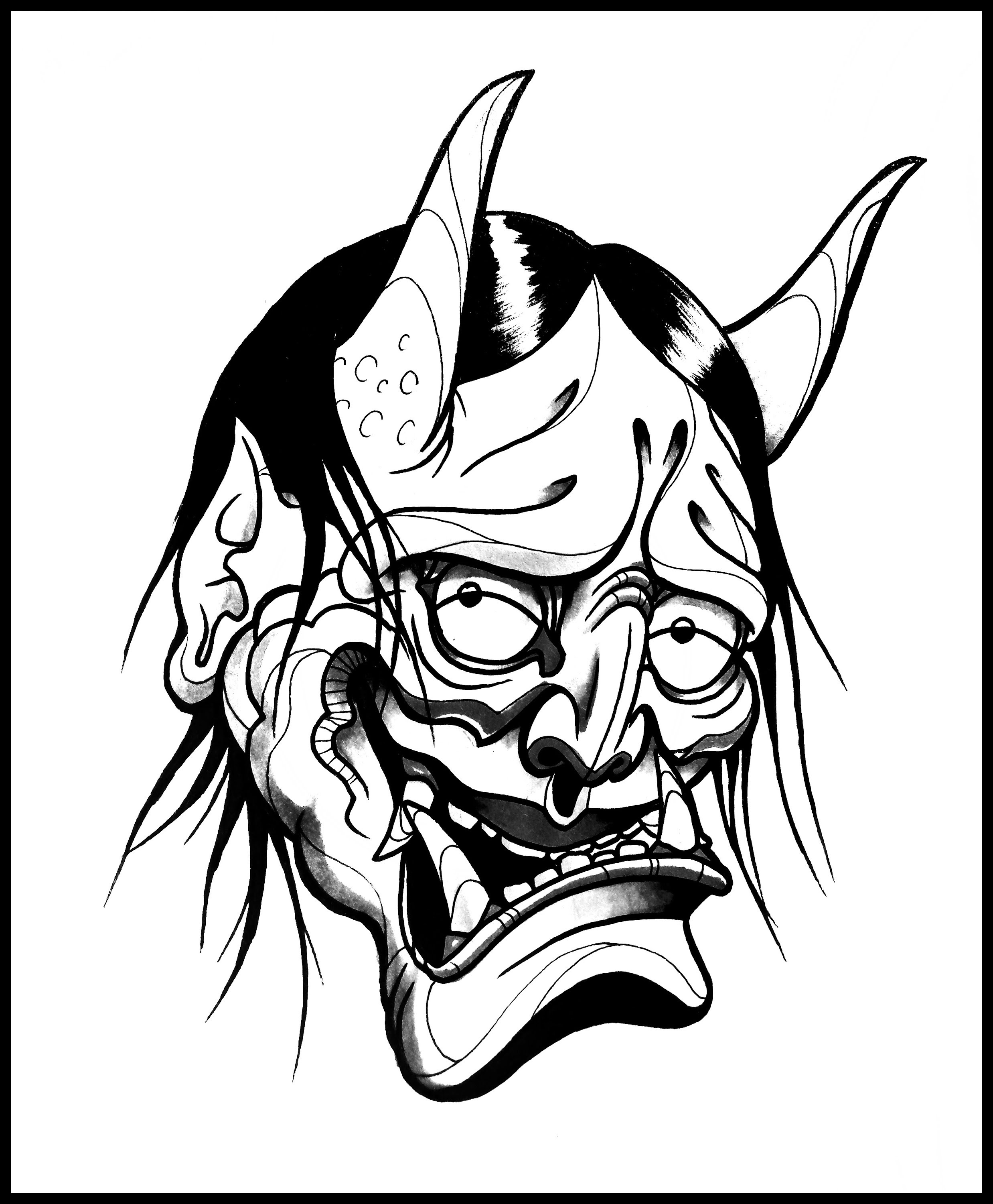Drawn masks face drawing A thebrokenpuppet How by Hannya