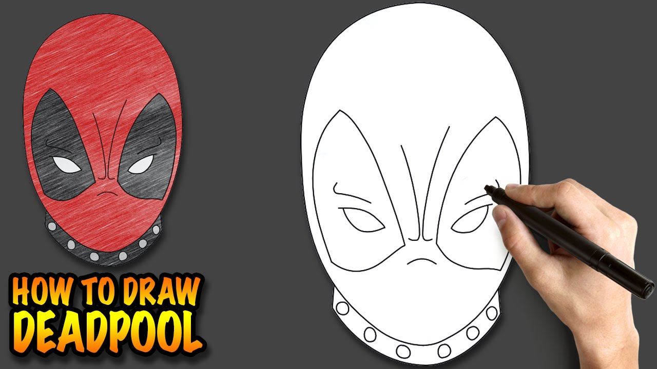 Drawn masks face drawing Easy lessons for step step