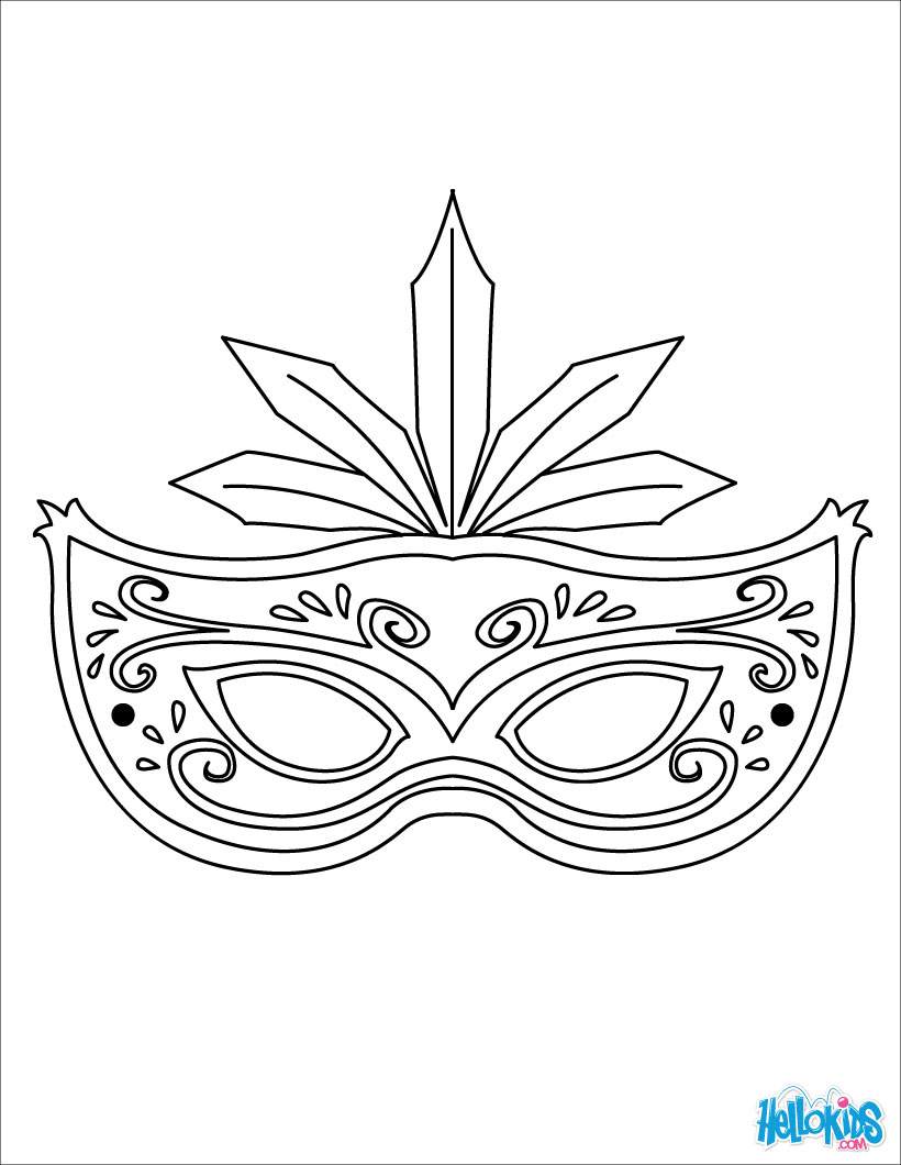 Drawn masks fancy mask Page coloring coloring mask com