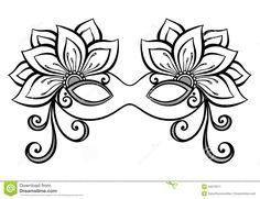 Drawn masks fancy mask Mask for Use crafts image