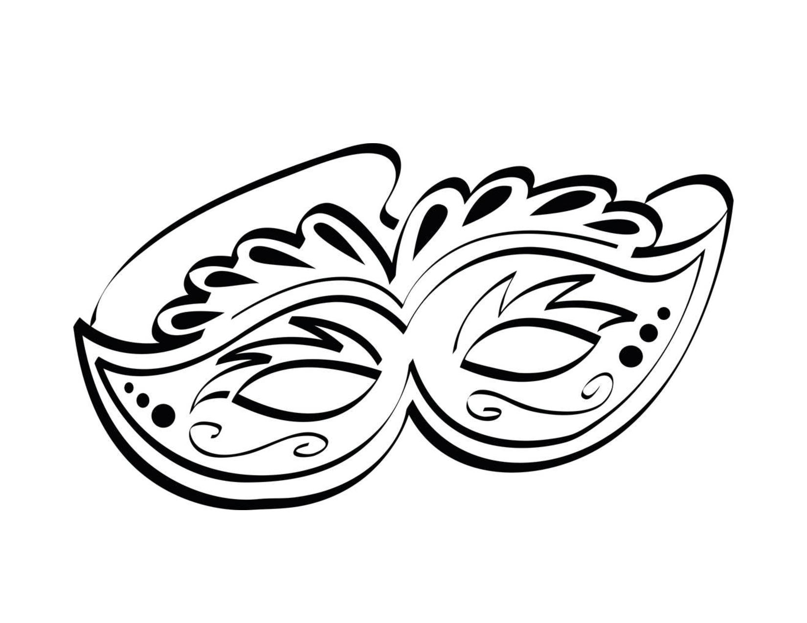 Drawn masks fancy mask Coloring  Kids Mask :