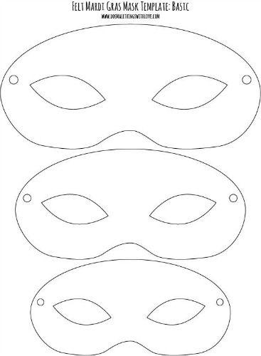 Drawn masks felt mask Printable} for Masks Felt Kids