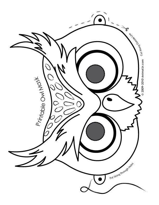 Drawn masks felt mask Printable images Animal about Cute