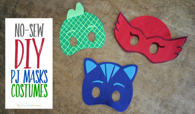 Drawn masks felt mask PJ DIY Masks No Sew