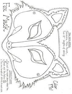 Drawn masks felt mask Mask Mask Animal and Printable