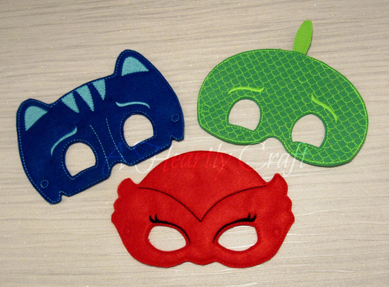 Drawn masks felt mask Etsy superhero Gecko mask Red