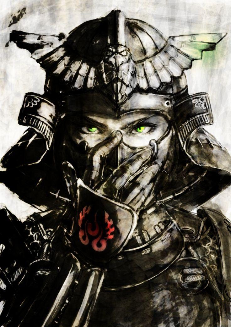 Drawn samurai samurai warrior Samurai More on art Samurai
