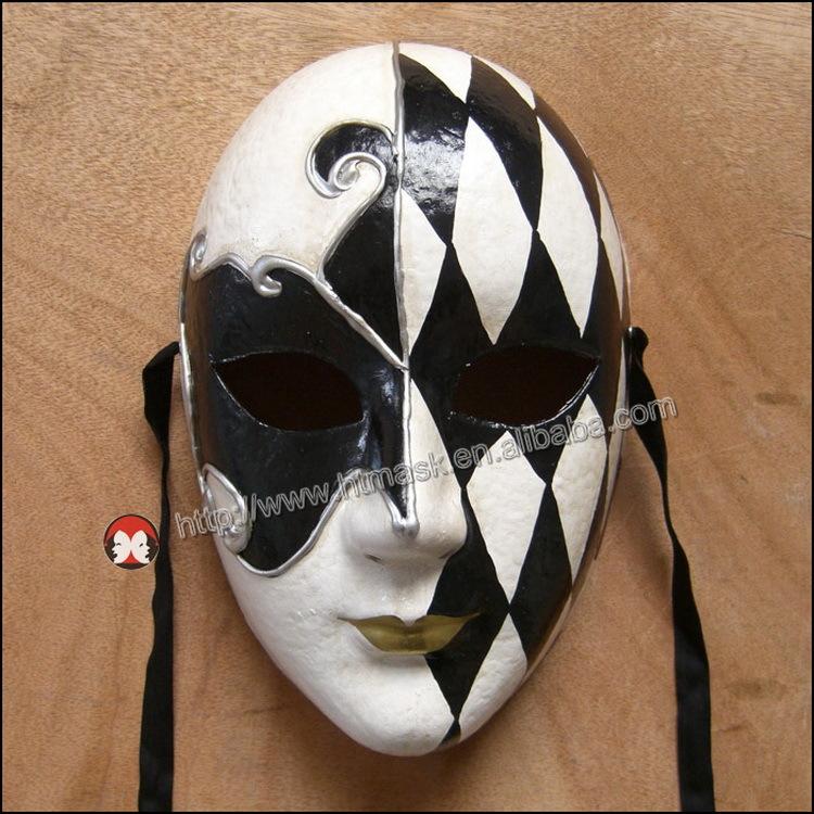 Drawn masks full mask Venetian 3d Face mask/hand Full