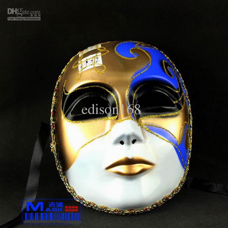 Drawn masks full mask   Colored Music Vintage